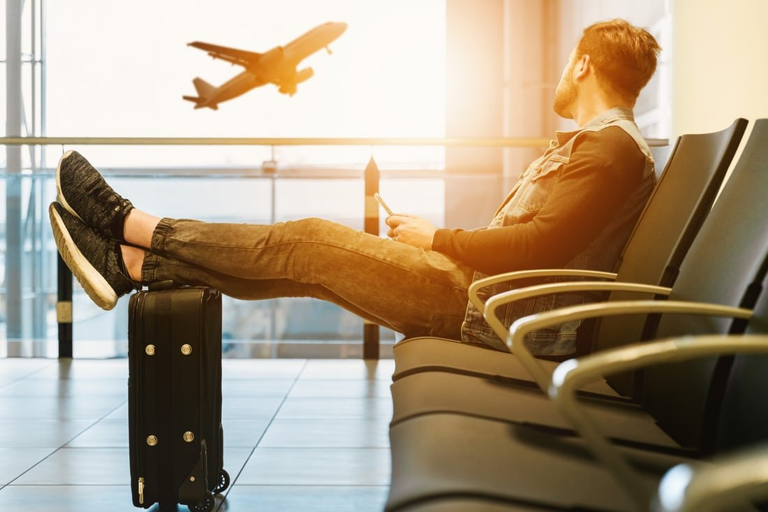 Man Sitting at theLima Airport