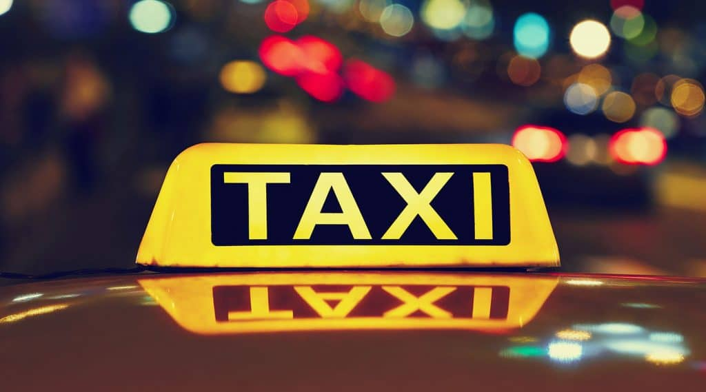Airport Taxi service sign