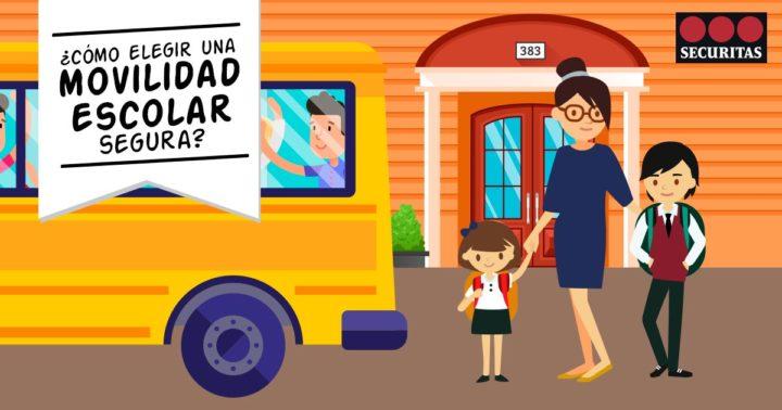 A cartoon explaining how to choose the right form of movilidad escolar