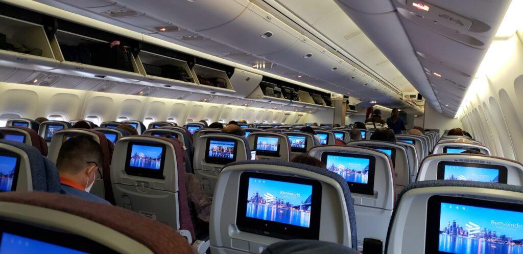 On board Sao Paulo to Lima